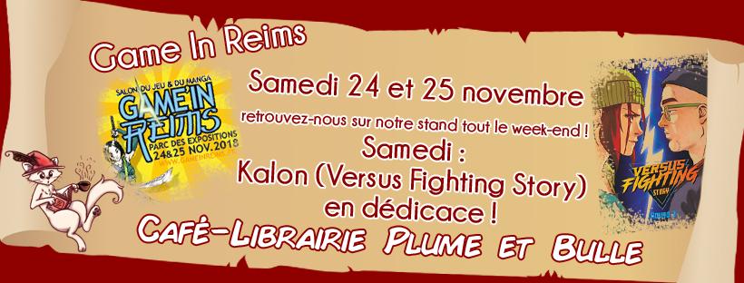 Plume et Bulle au Game in Reims !