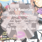 Ari's In Wonderland Birthday Giveaway! (Open internationally)