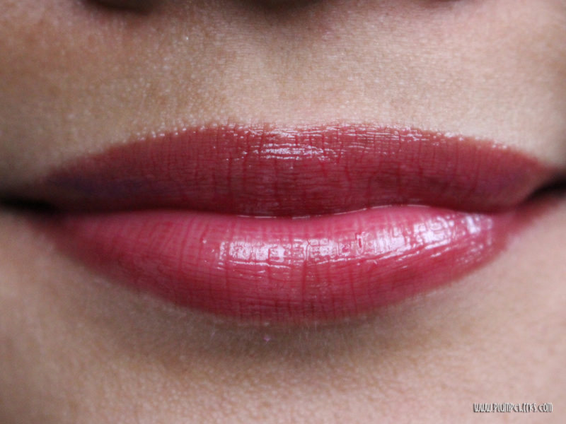 Forever21 Lip Gloss in Burgundy Swatch 3