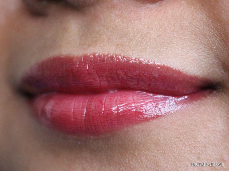 Forever21 Lip Gloss in Burgundy Swatch 4