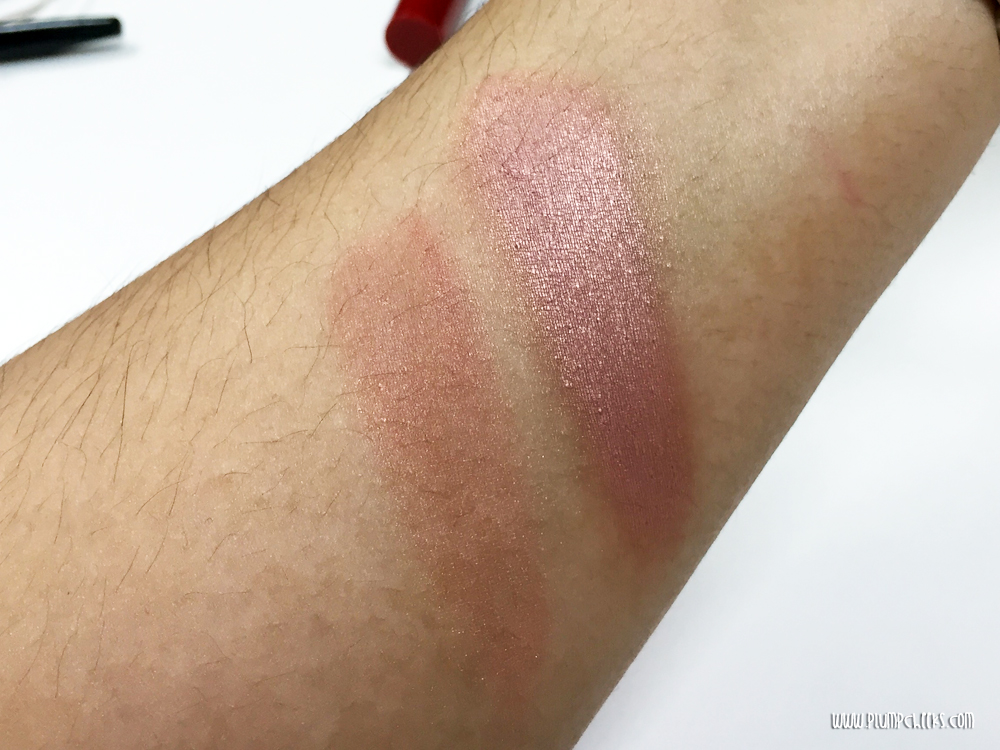 NYX baked blush in Chiffon Swatch 2