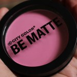 Drugstore Finds: City Color BE MATTE Blush in Pink Grapefruit Review!