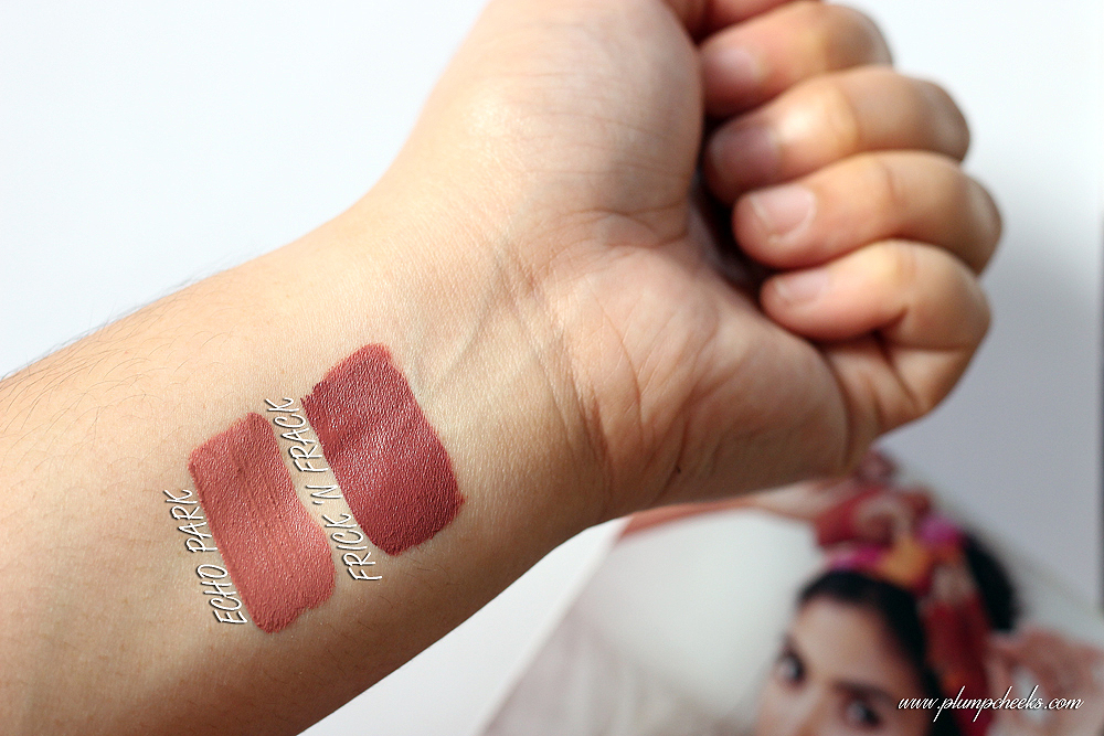 COLOURPOP ULTRA SATIP LIPS ECHO PARK FRICK N FRACK SWATCHES