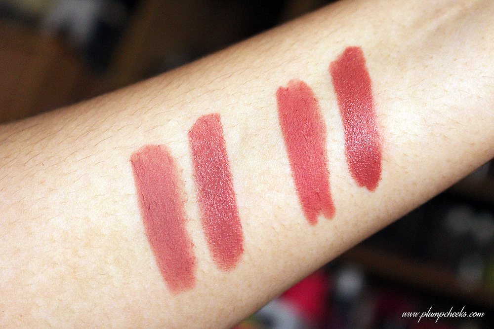 Happy Skin Matte Lippie and Happy Skin Moisturizing Lippie Swatches (2)