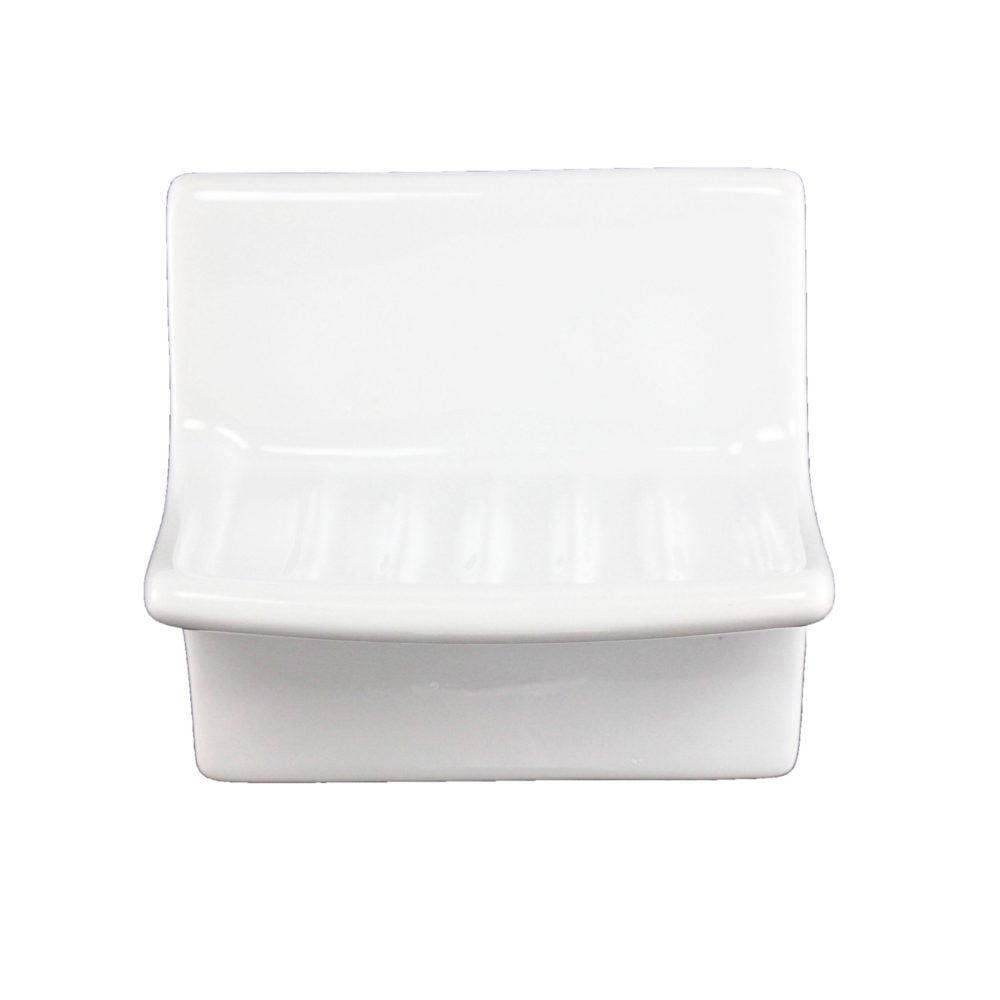 lenape proseries wall mount ceramic soap dish 4 l x 4w white