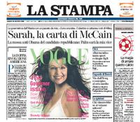 La Stampa con la bufala in prima pagina