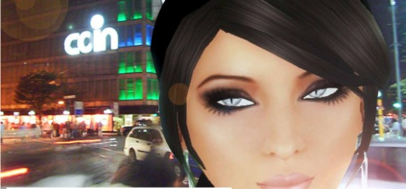 Un avatar in una città italiana.