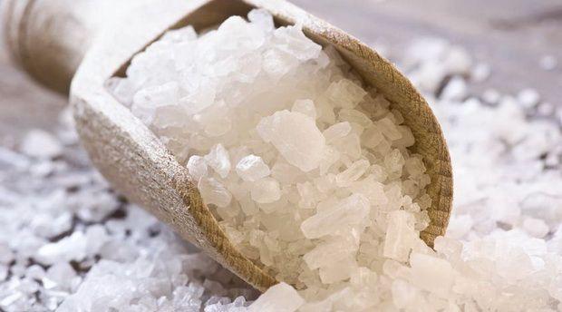 bain de pied gros sel