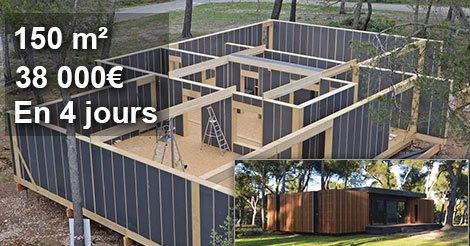 Une maison de 150 M² pour moins de 38'000€ et construite ...