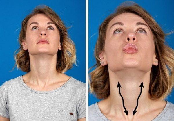 exercice pour perdre double menton