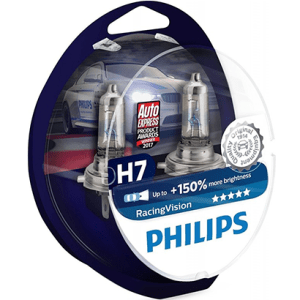 12972RVS2 – PHILIPS Racing Vision H7 +150% 12V 55W