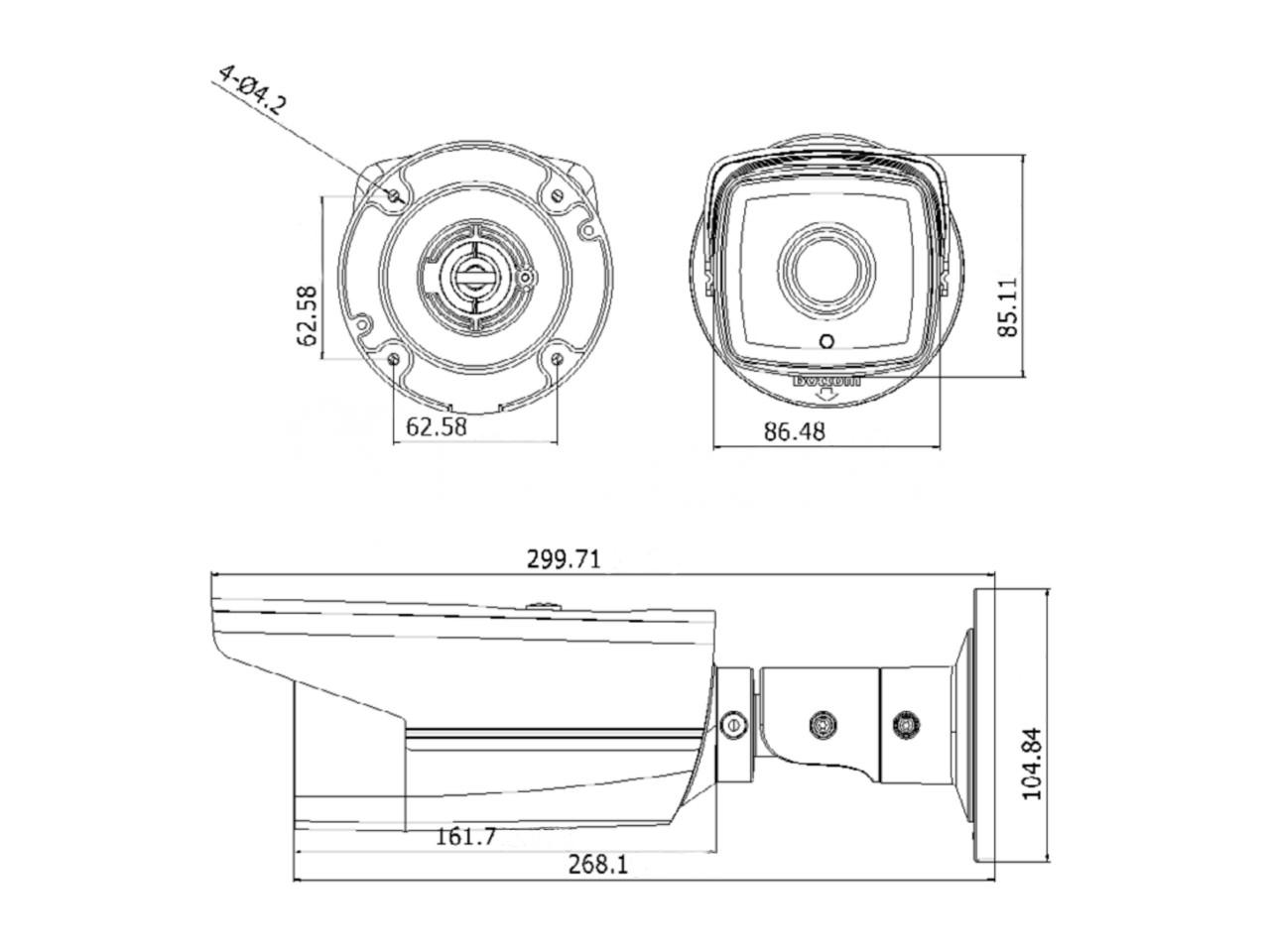 Hikvision Ds 2cd2t32 I5 4mm Bullet Camera