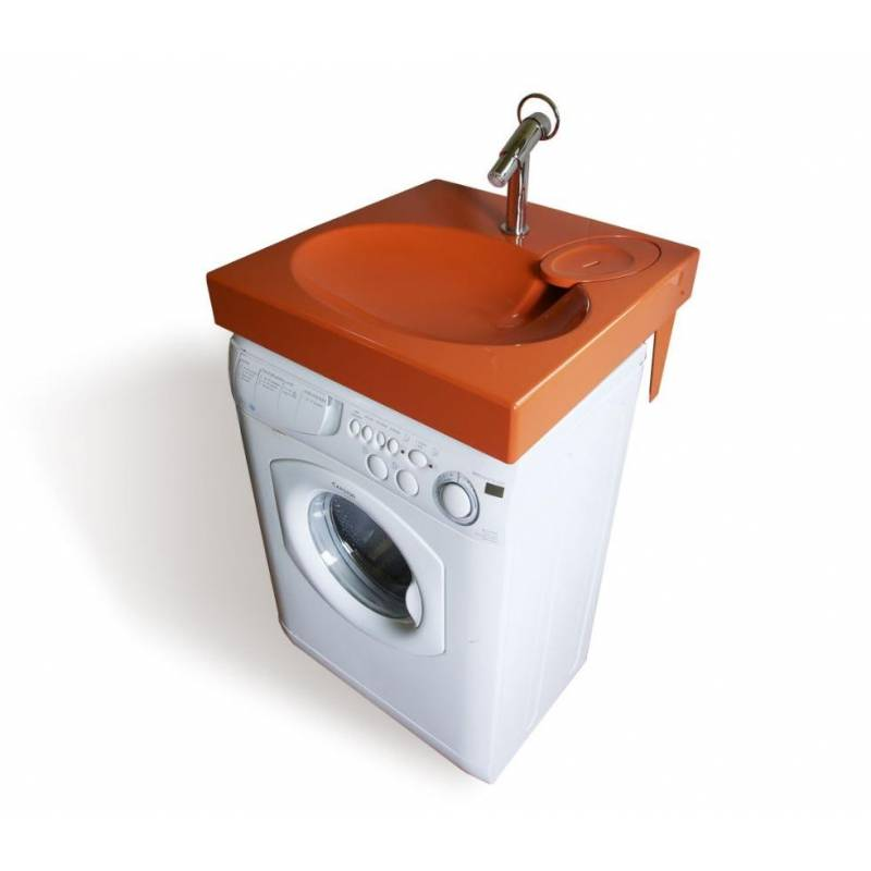 lavabo gain de place sur machine a laver