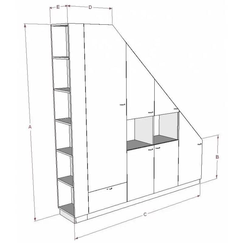Meuble De Rangements Sous Pente Ou Sous Escalier Sur
