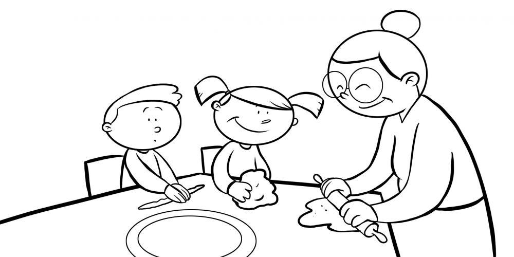 Caricaturas De Personas Comiendo Tacos