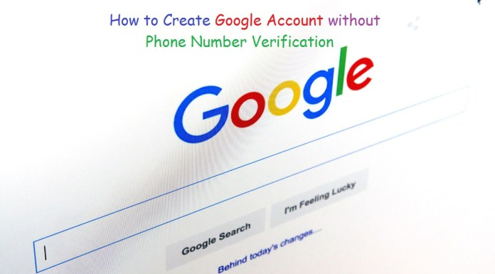without verification google account