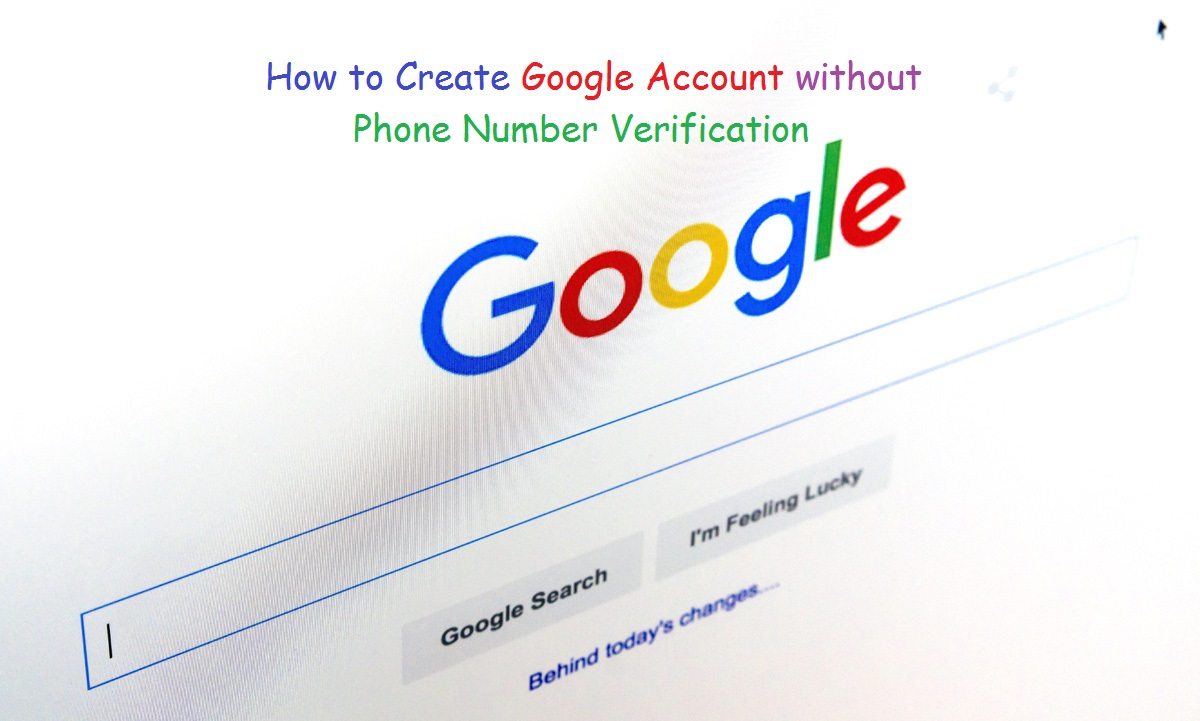 How to create a google account without phone number