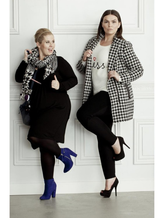 v. l. n. r. Maite Kelly, Anna Nathalia Jonik I Mode für kurvige Frauen I Bild: bonprix.de