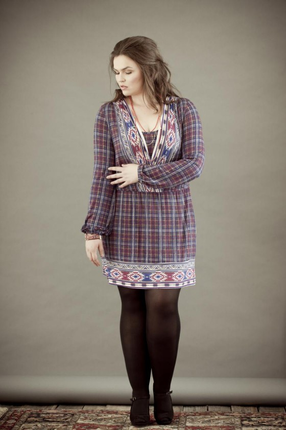 Model Anna Nathalia Jonik I Kleid für Curvys Bild: bonprix.de