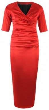 Plus Size I Red Affair! Long Evening Dress, Poppy Red - dorismegger.com