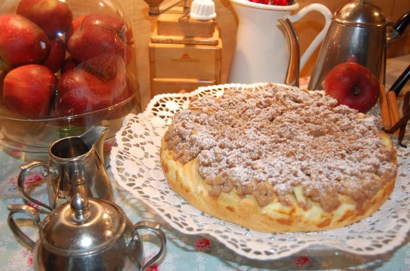 Apfelkuchen mit Zimtstreusel,