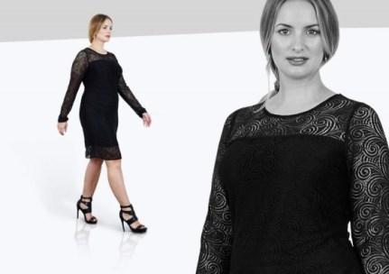 Aus der Plus-Size-Kollektion Black Label von Anna Scholz - Bild: annascholz.com