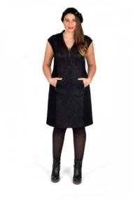 XXL-Kleid in schwarz