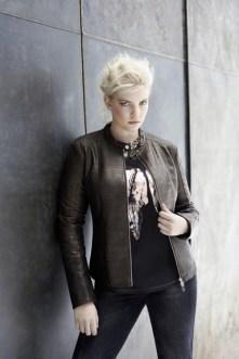 """Stylische Biker-Jacke und Shirt """"Modern Art"""" für Curvys - Bild: frapp"""