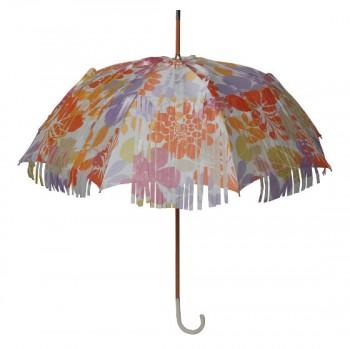 Regenschirm im Franzenlook I Doppler Manufaktur I Flower Power I Bild: Anja Sziele PR