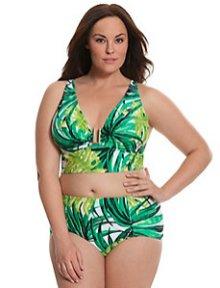 Bikini in Plus Size mit tiefgezogenem Oberteil und hohem Höschen I LaneBryant.com