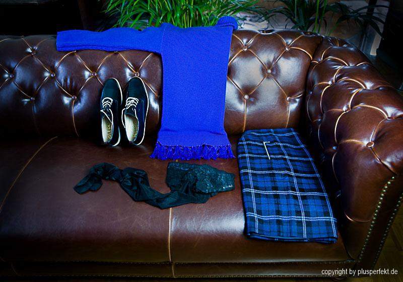 Trendthema Königsblau gemixt mit Karo