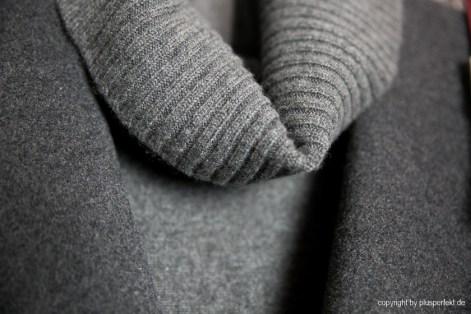 Cashmere Pullover mit Rollkragen für Curvys - Cashmere Turtleneck in grey for curvys