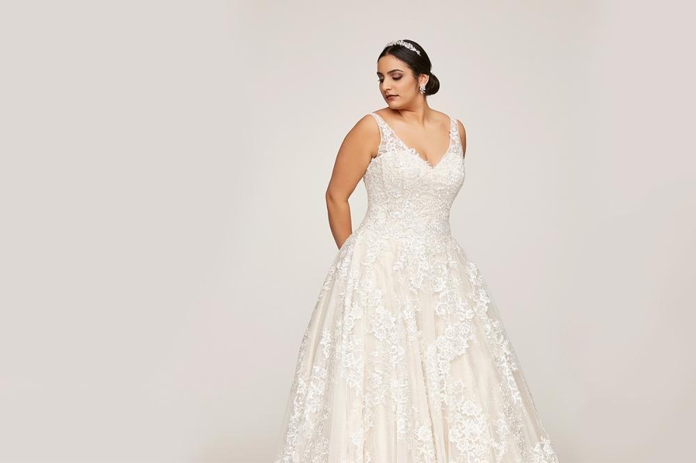 Für bilder brautkleider mollige Welches Brautkleid