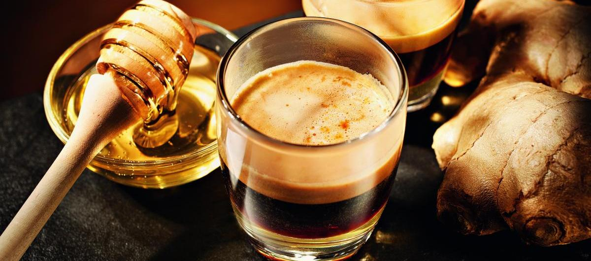 Kaffee-Spezialität Ginger Honey Coffee   Credits: Jura