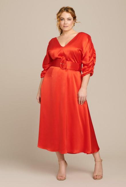 Rotes Kleid von Nicholas, erhältlich bei 11Honore