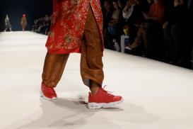 Sneakers bei der Kilian Kerner Fashion Show Herbst-Winter 2020 | Credits: obs/Skechers USA Deutschland GmbH/Martin Loos