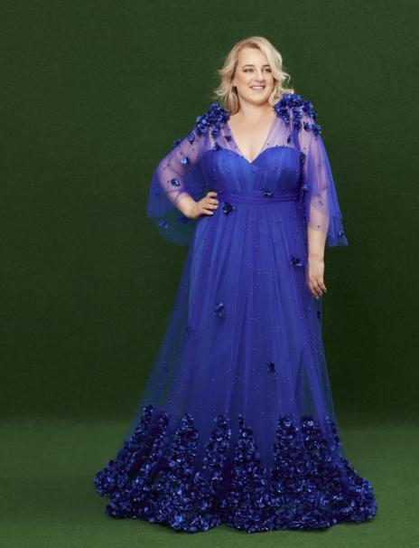 Royales Blau | Abendrobe in Plus Size von Jeanne Paulin