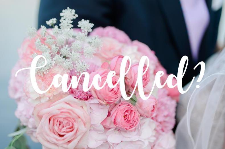 Zahlreiche Hochzeiten müssen wegen der Corona-Krise abgesagt oder (auf unbestimmte Zeit) verschoben werden.