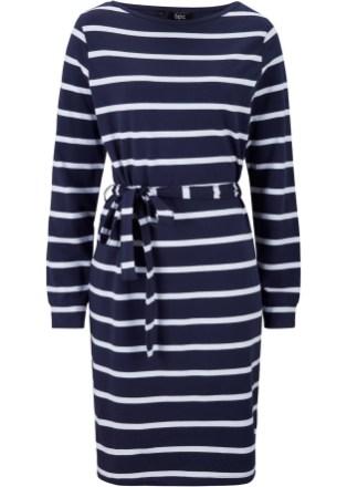 Maritimes Kleid mit Gürtel von bonprix