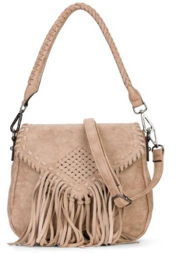 Garantiert kein Leder ... Handtasche in Leder-Optik mit Fransen | Emily & Noah