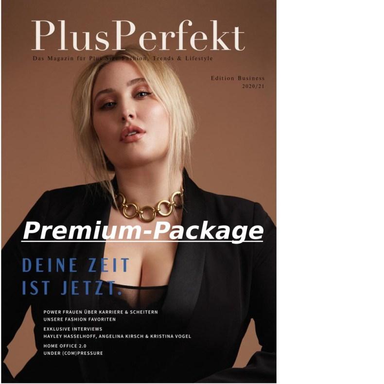 Hayley Hasselhoff, Covergirl der PlusPerfekt Edition Business