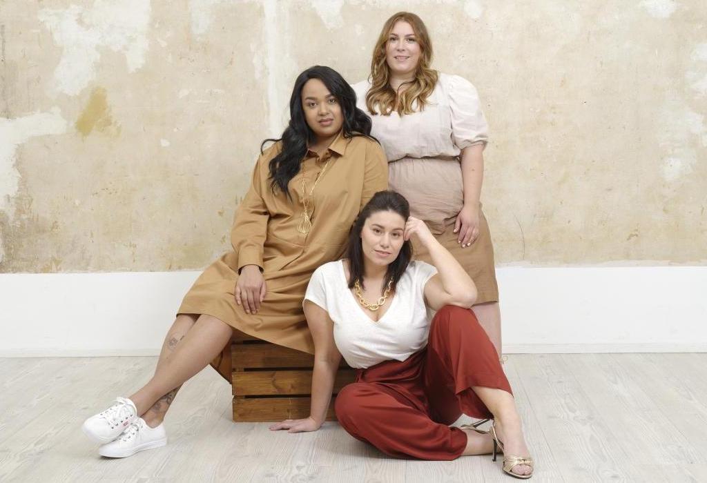 Daniela, Lea (hinten) und Serena (vorne) zeigen Plus Size Mode von CHLENCH