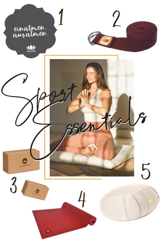 Editor's Pick mit Produkten für Yoga und Meditation.