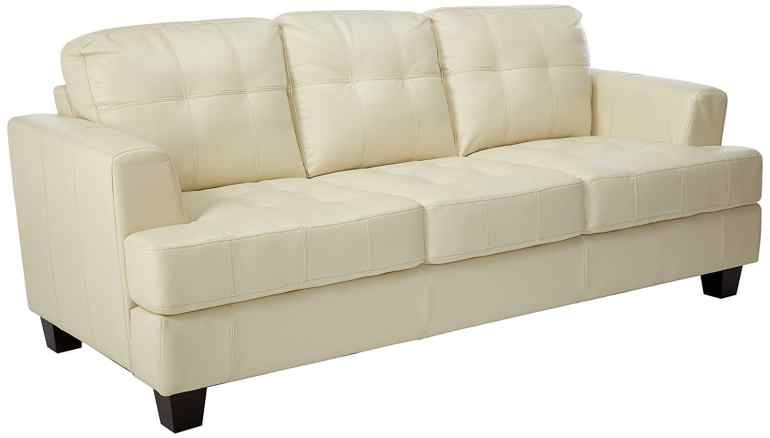 Coaster Samuel Collection Cream Leather Sofa Review 2018