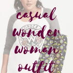Casual Plus Size Wonder Woman Outfit