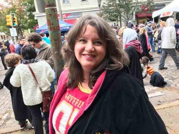 Nancy Basile in Gryffindor Robe