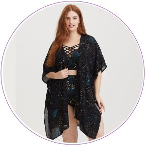 Plus Size Constellation Cover Up