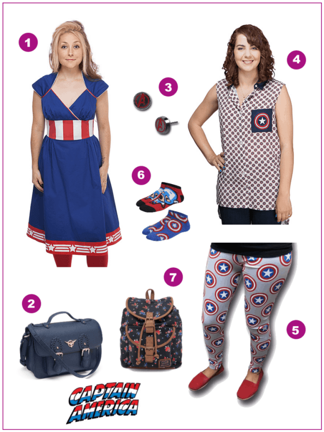 Plus Size Captain America Dress Up and Down