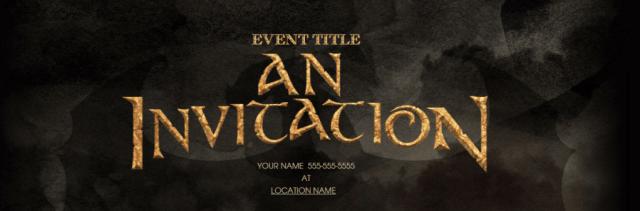 Header from a dark online invitation