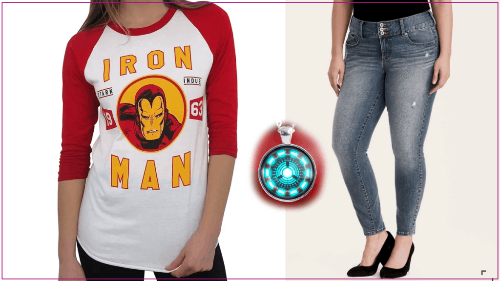 Plus Size Iron Man Casual Cosplay